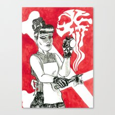 Deadly Barista Canvas Print