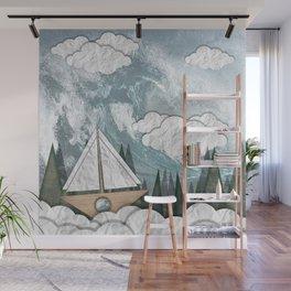 Paper Boat Wall Mural