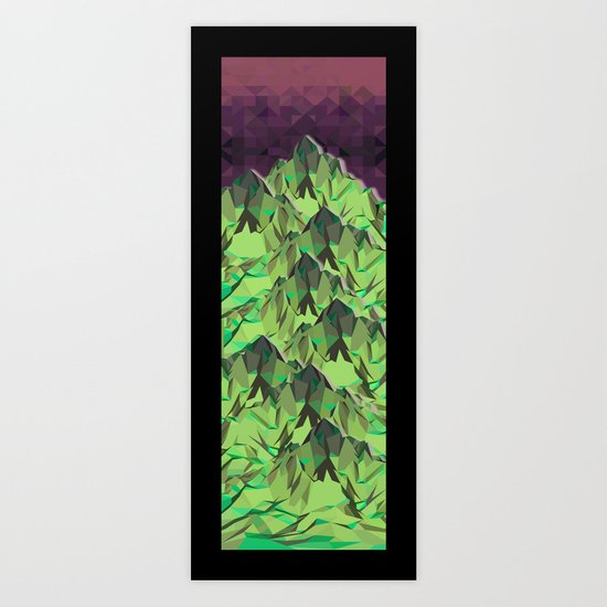 The Great, Great Night Mountain No. 5 Art Print