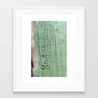 code Framed Art Prints featuring Code  by Ethna Gillespie