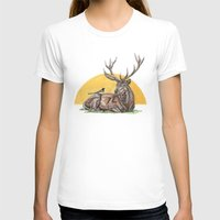 stag T-shirts featuring Stag by Meredith Mackworth-Praed