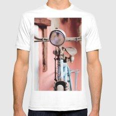 Vintage bicycle White Mens Fitted Tee MEDIUM