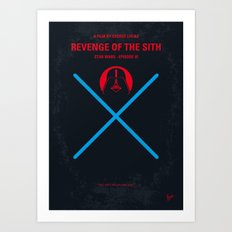 No225 My Star E-III minimal movie poster wars Art Print