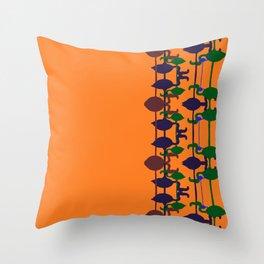 Flamingo abstract orange Throw Pillow