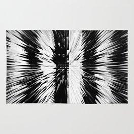 169 - Black and white spikey stripes Rug