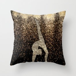 Sparkle Gymnast Throw Pillow