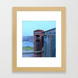 The lonely Telephone Box Framed Art Print
