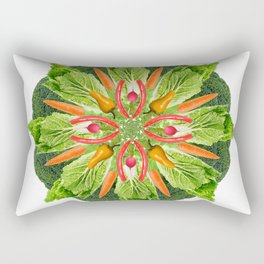 vegan mandala Rectangular Pillow