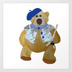 Paris Bear Art Print