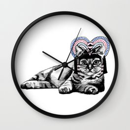Cat Crown Wall Clock
