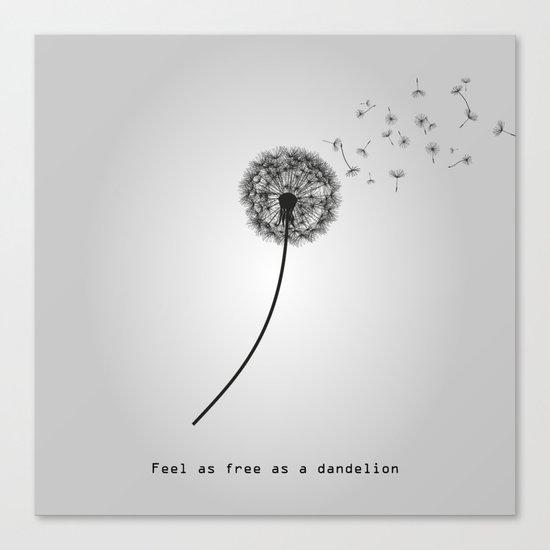 Feel as free as a dandelion Canvas Print