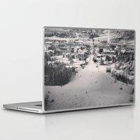 ski Laptop & iPad Skins featuring Ski town by snowboardobsessed350