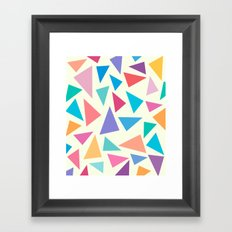 Colorful geometric pattern II Framed Art Print