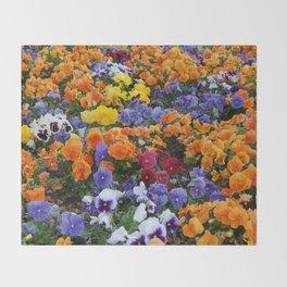 Pancy Flower 2 Throw Blanket