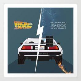 Back to the future / Delorean DMC-12 Art Print