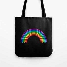 Neon Rainbow Tote Bag