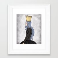 crown Framed Art Prints featuring Crown by Meyyen