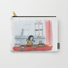 The little girl in orange. The bakery Carry-All Pouch
