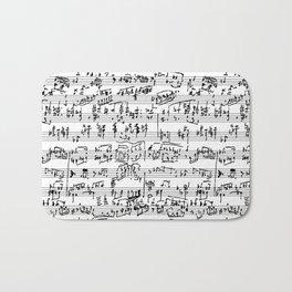 Handwritten Sheet Music Bath Mat
