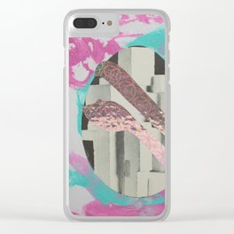 Brutalist Egg and Shiny Snake Clear iPhone Case