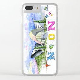 Neon Boneyard Las Vegas Clear iPhone Case