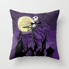 Halloween Purple Sky with jack skellington iPhone 4 4s 5 5c, ipod, ipad, pillow case tshirt and mugs Throw Pillow
