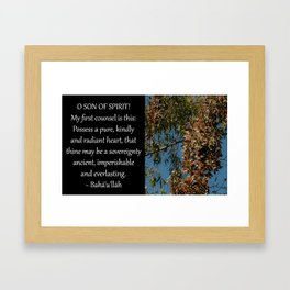 Possess A Pure, Kindly and Radiant Heart Framed Art Print