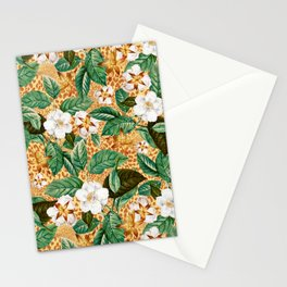Floral and Leopard Stationery Cards
