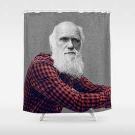 Hipster Darwin Shower Curtain