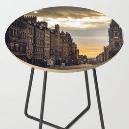 Royal Mile Sunrise in Edinburgh, Scotland Side Table