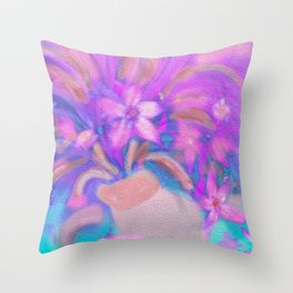 Mom The Kitty Just knocked Over Your Flowers! Throw Pillow