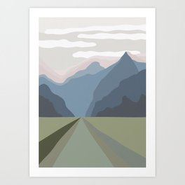 The Mountain Road III Art Print