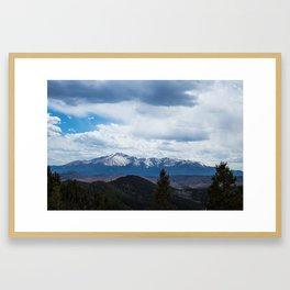 Colorado Springs Mountains Framed Art Print