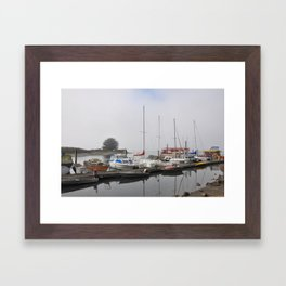 Boats of Morro Bay, Ca Framed Art Print