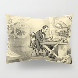 The Progress of the Century (Currier & Ives) Pillow Sham