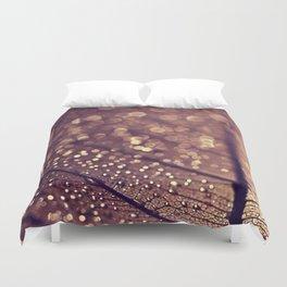gold leaf Duvet Cover