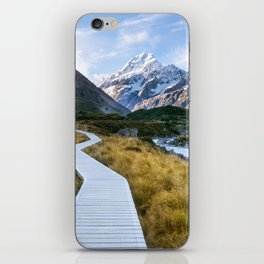 Mt.Cook New Zealand - A hikers dream iPhone Skin