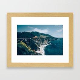 Big Sur Coast and Bixby Bridge Framed Art Print