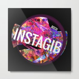 INSTAGIB Album Cover Metal Print