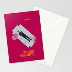 Indagine su un Cittadino al di sopra di ogni Sospetto - Locandina per il Capolavoro di Elio Petri  Stationery Cards