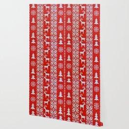 Christmas Cross Stitch Wallpaper