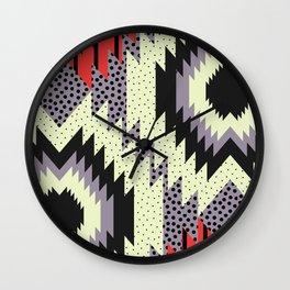 Ethnic fun with dots Wall Clock