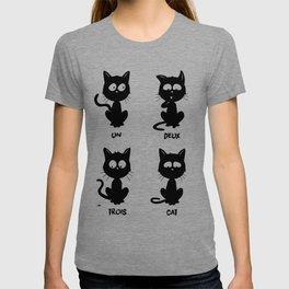 Un, deux, trois, cat T-shirt