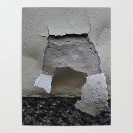 plaster cracks Poster