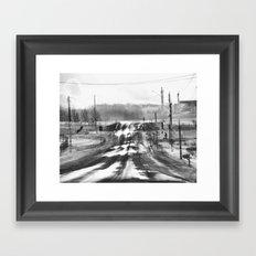 One Road Home, Canandaigua Framed Art Print