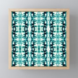 Tie-Dye Teals Framed Mini Art Print