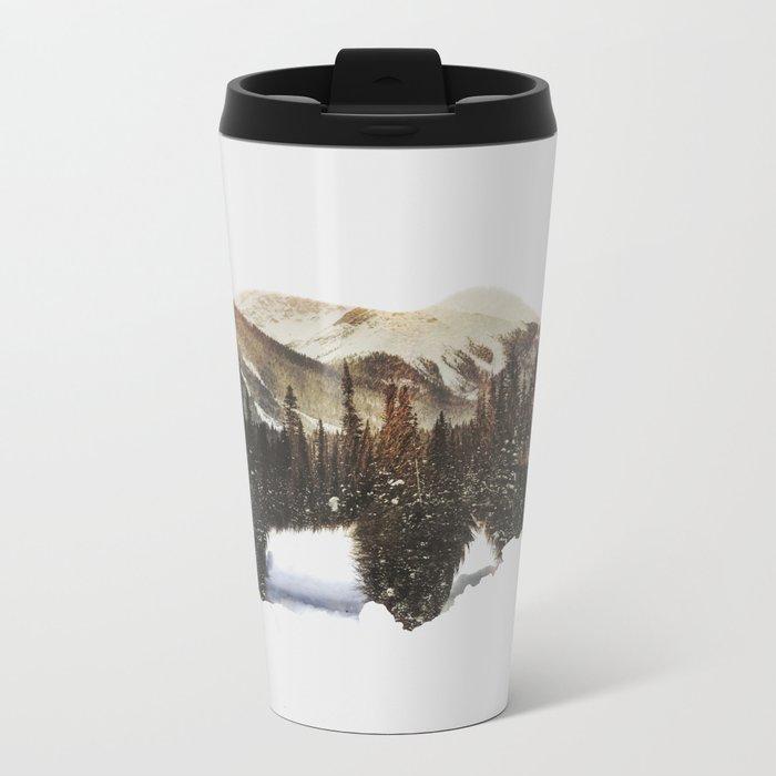 Arctic Grizzly Bear Metal Travel Mug