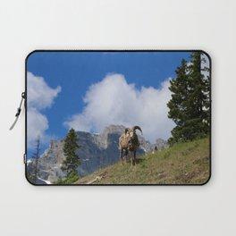Ram Against Mountain Backdrop Laptop Sleeve