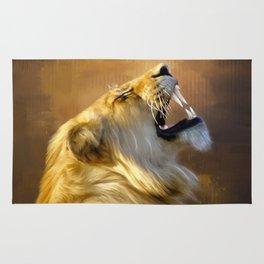 Roaring lion portrait Rug