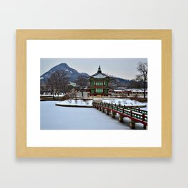 Winter Hyangwon-jeong, Gyeongbokgung Framed Art Print